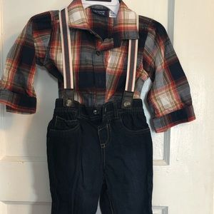 Shirt/pants with suspenders